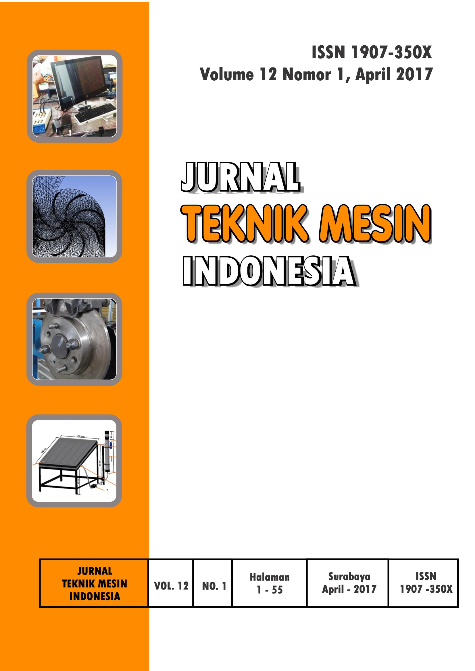 Jurnal Teknik Mesin Indonesia (JTMI) Edisi April 2017