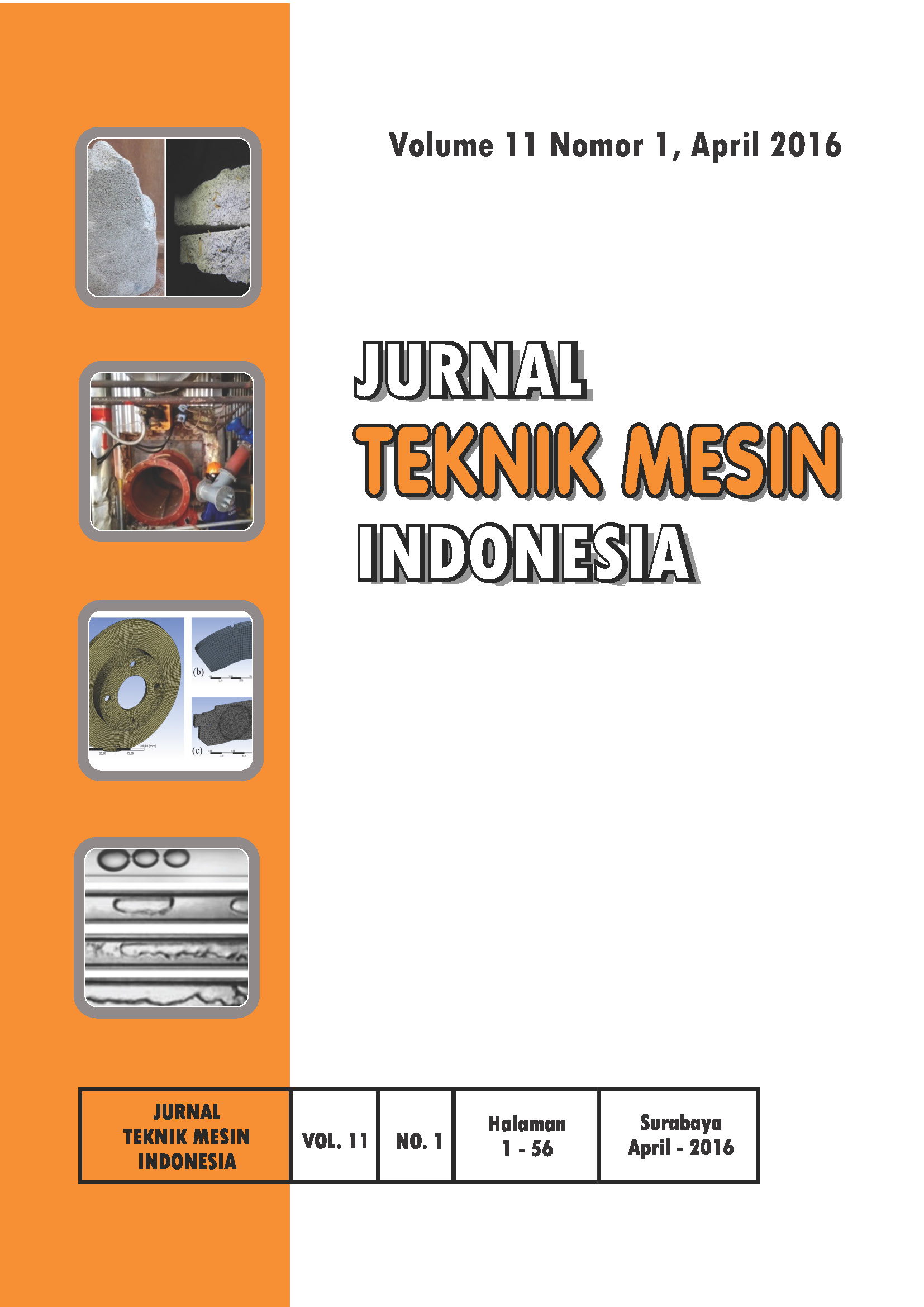 Jurnal Teknik Mesin Indonesia (JTMI) Edisi April 2016